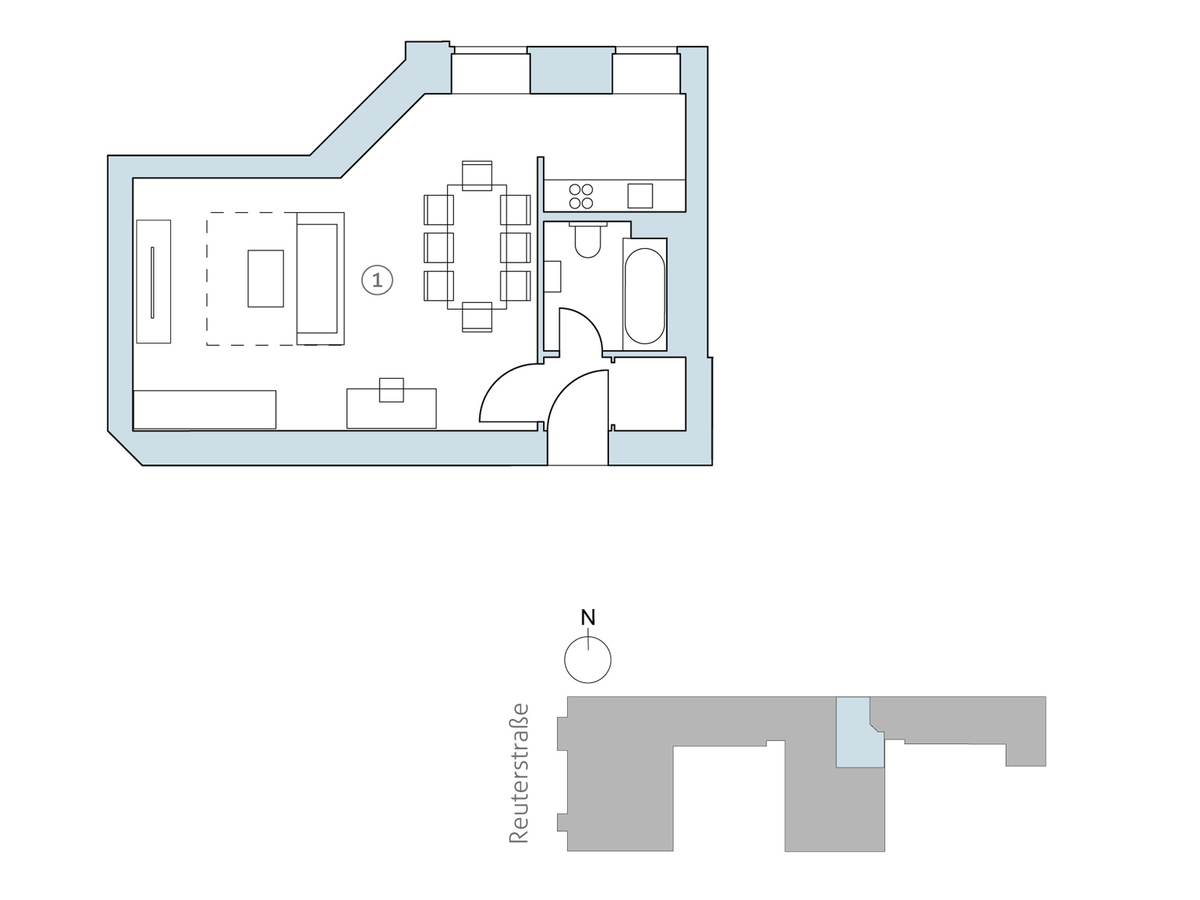 Floor plan unit 17 | Reuterstraße