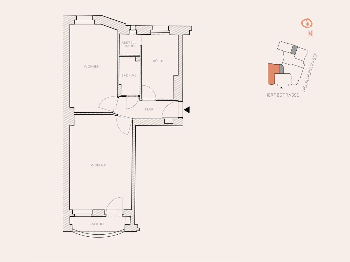 Floor plan unit 5 | Hertzstraße