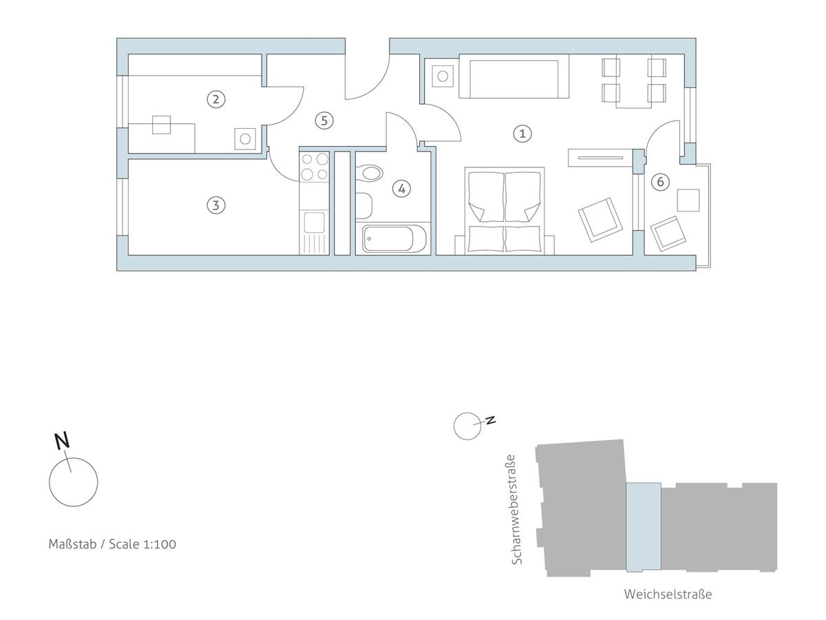 Grundriss WE 32 | Weichselstraße