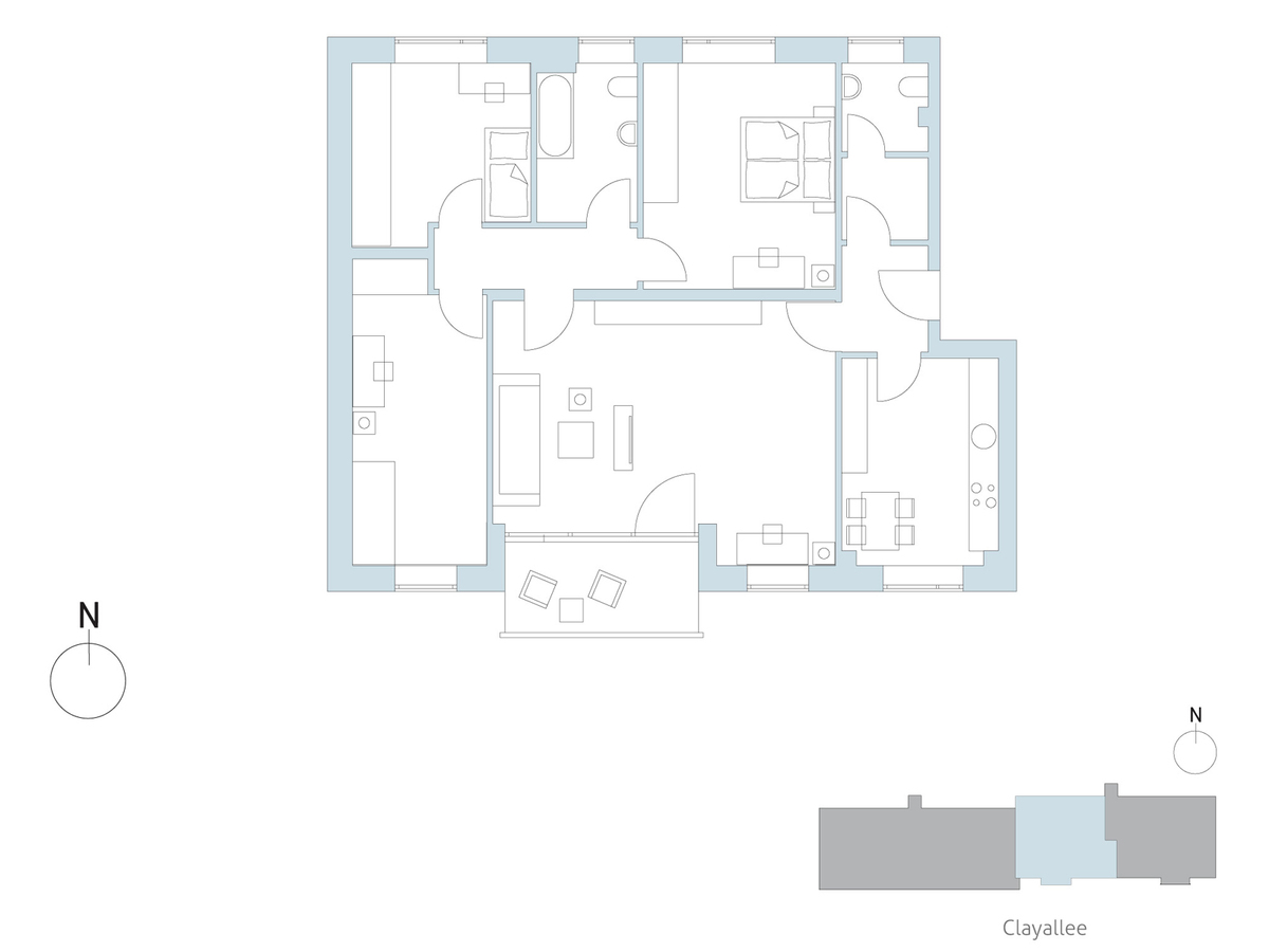 Floor plan unit 44 | Clayallee