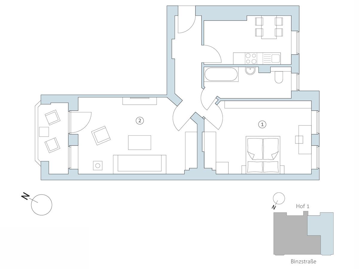Floor plan no 8 | Binzstraße