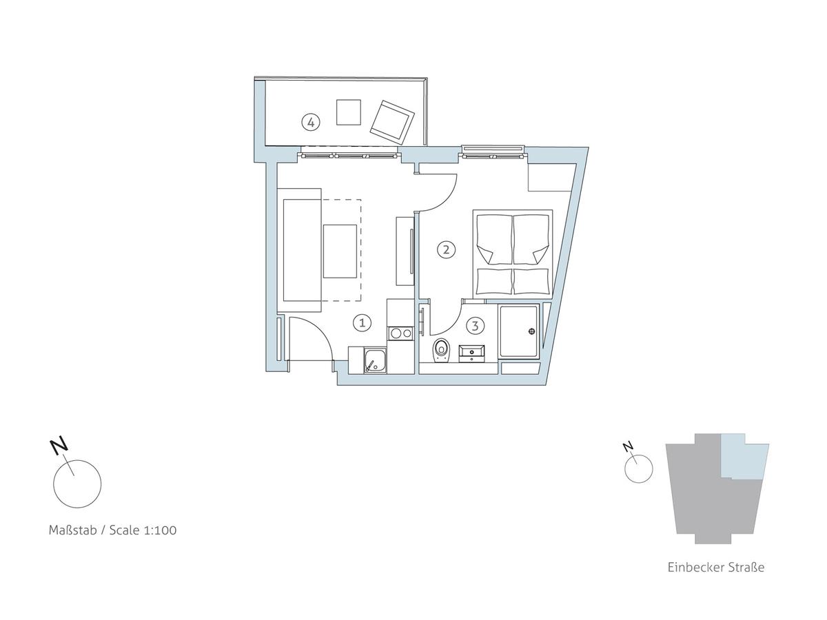 Grundriss WE 16 | Einbecker Straße