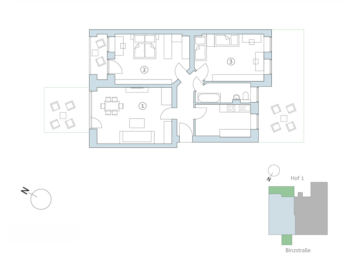 Floor plan no 2 | Binzstraße