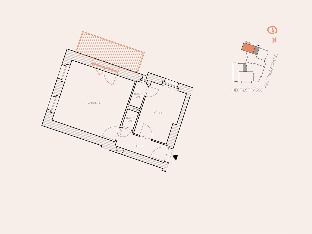 Floor plan unit 15 | Hertzstraße