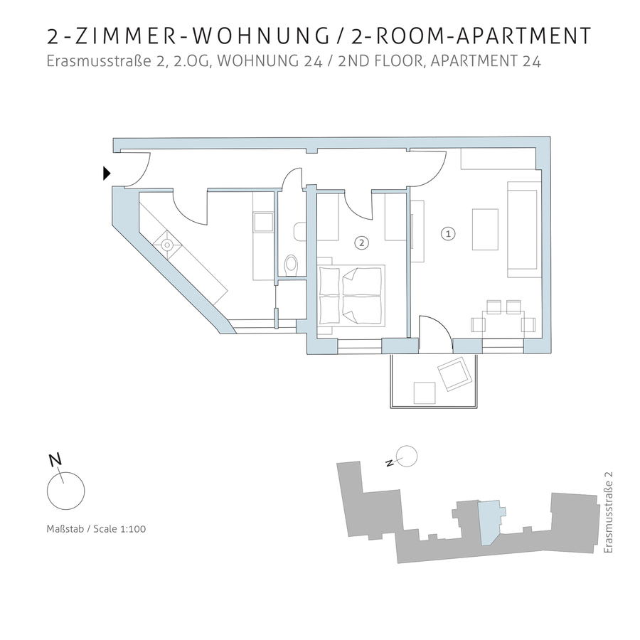 Floorplan unit 24 | Erasmusstraße