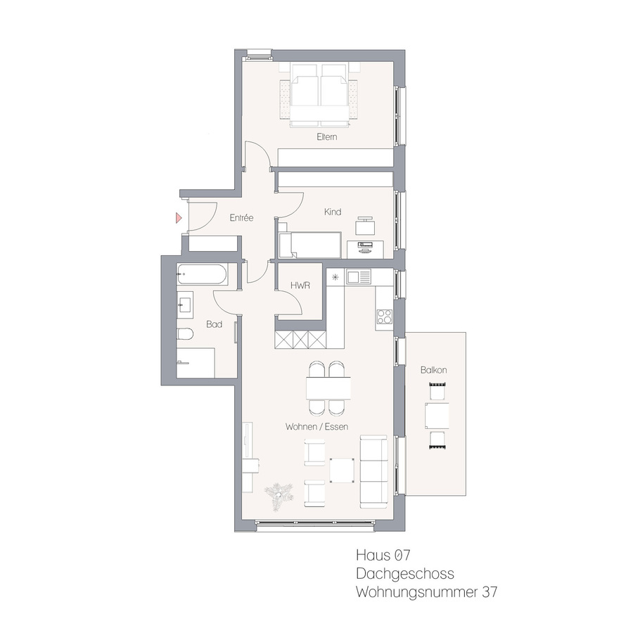 Haus 07 DG WE37   Hauptstraße
