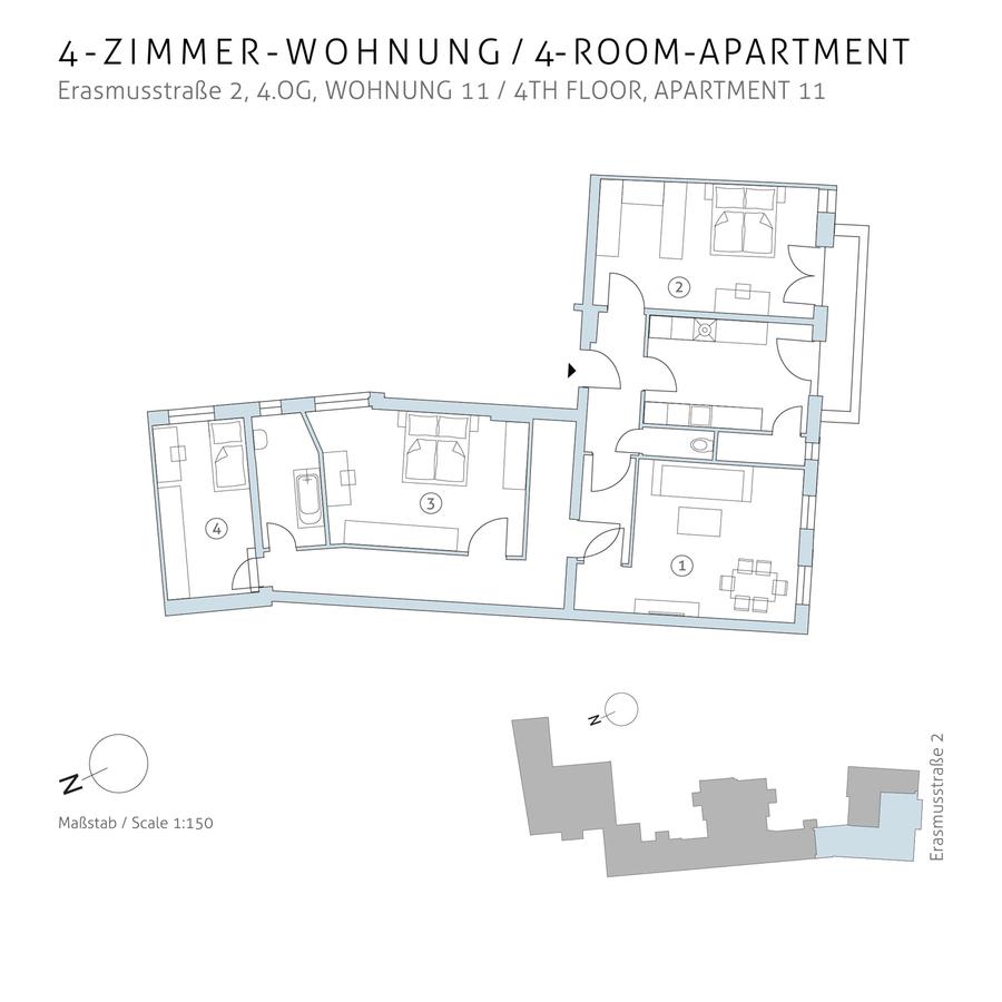 Floorplan unit 11 | Erasmusstraße