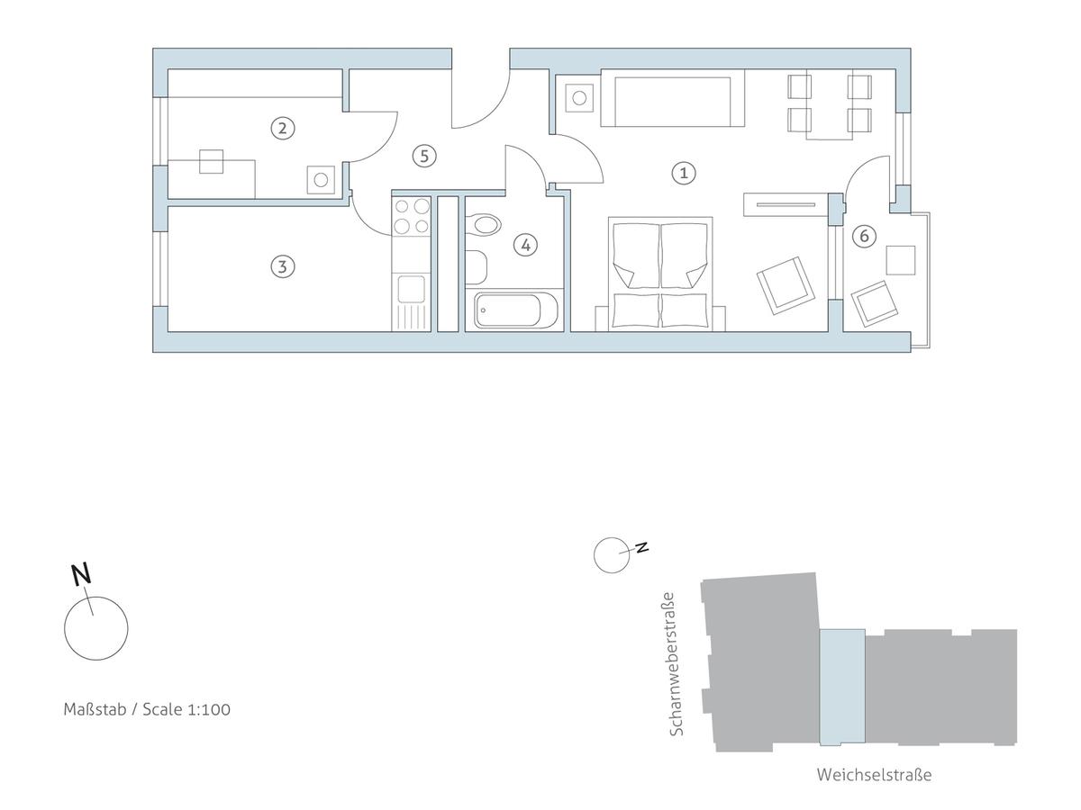 Grundriss WE 36 | Weichselstraße