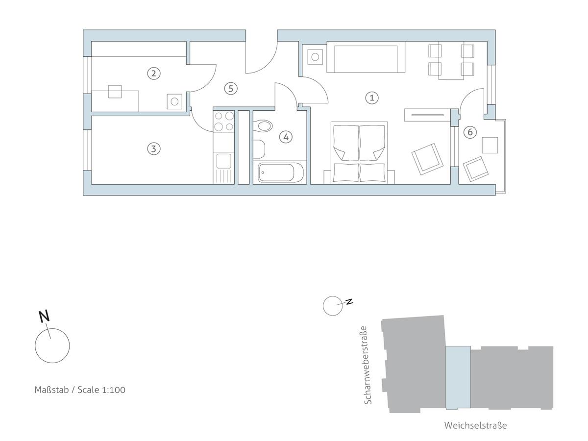 Grundriss WE 40 | Weichselstraße