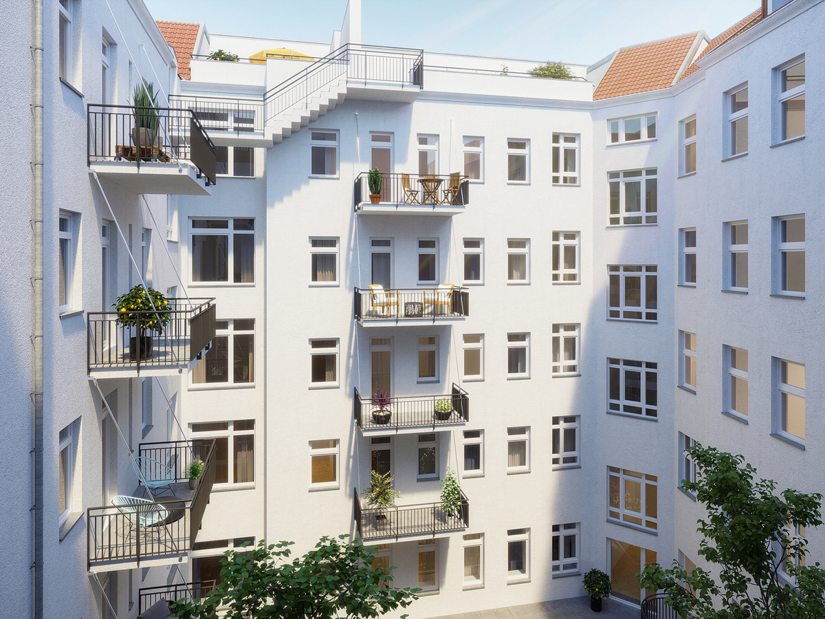 Rendering courtyard | Erasmusstraße