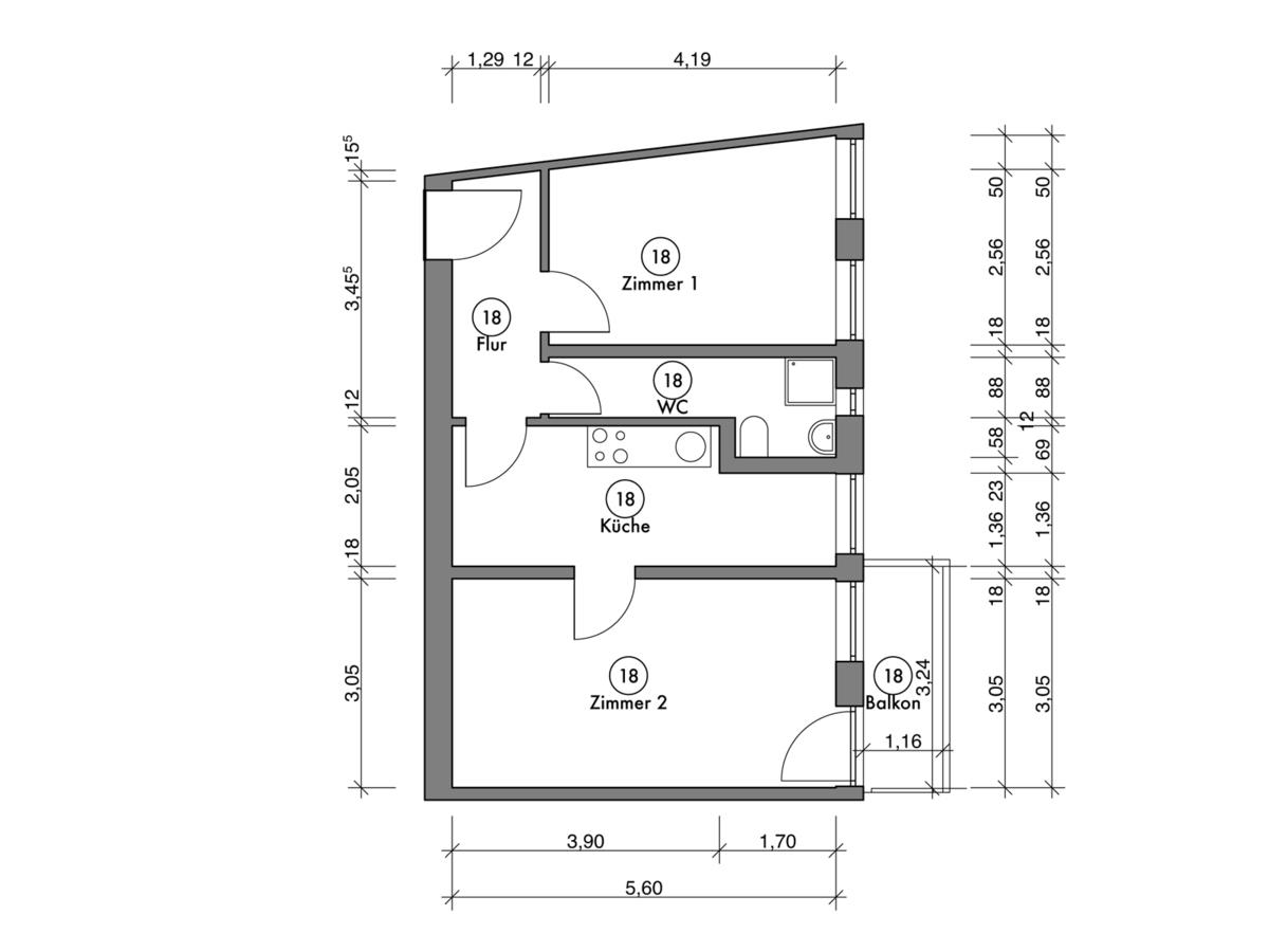 Floor plan unit 18 | Erasmusstraße