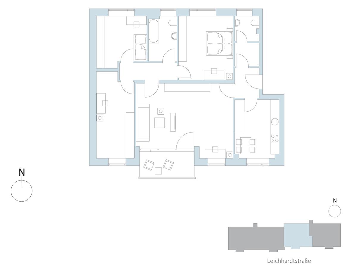 Floor plan unit 72   Leichhardtstraße