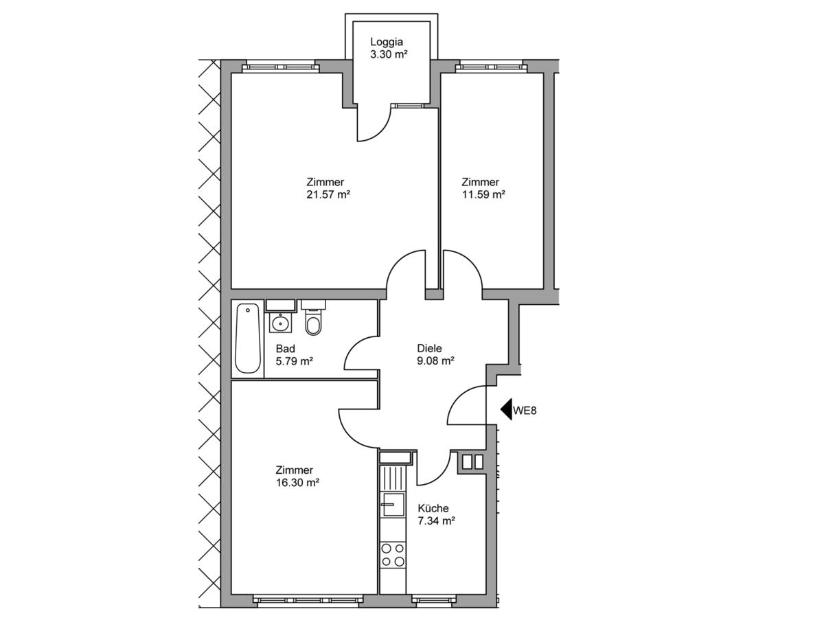 Floor plan unit 08   Kopfstraße