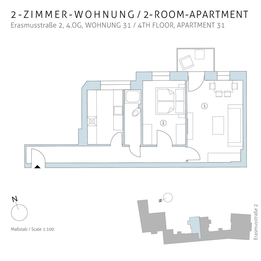 Floorplan unit 31 | Erasmusstraße