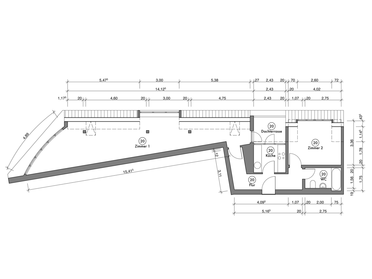 Floor plan unit 20   Erasmusstraße