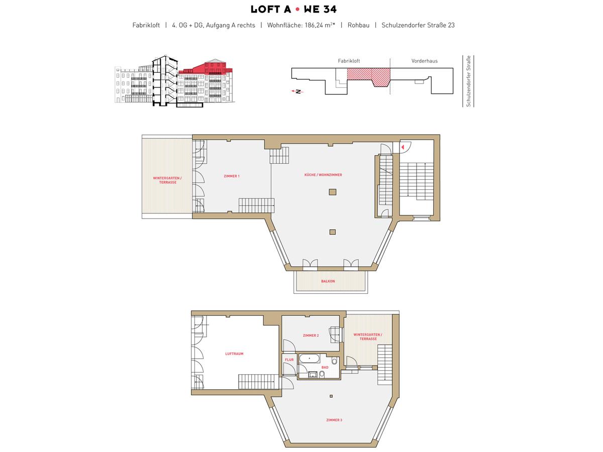 Floor plan LOFT A - Unit 34 | Schulzendorfer Straße