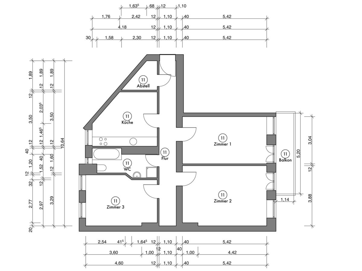 Floor plan unit 11 | Erasmusstraße