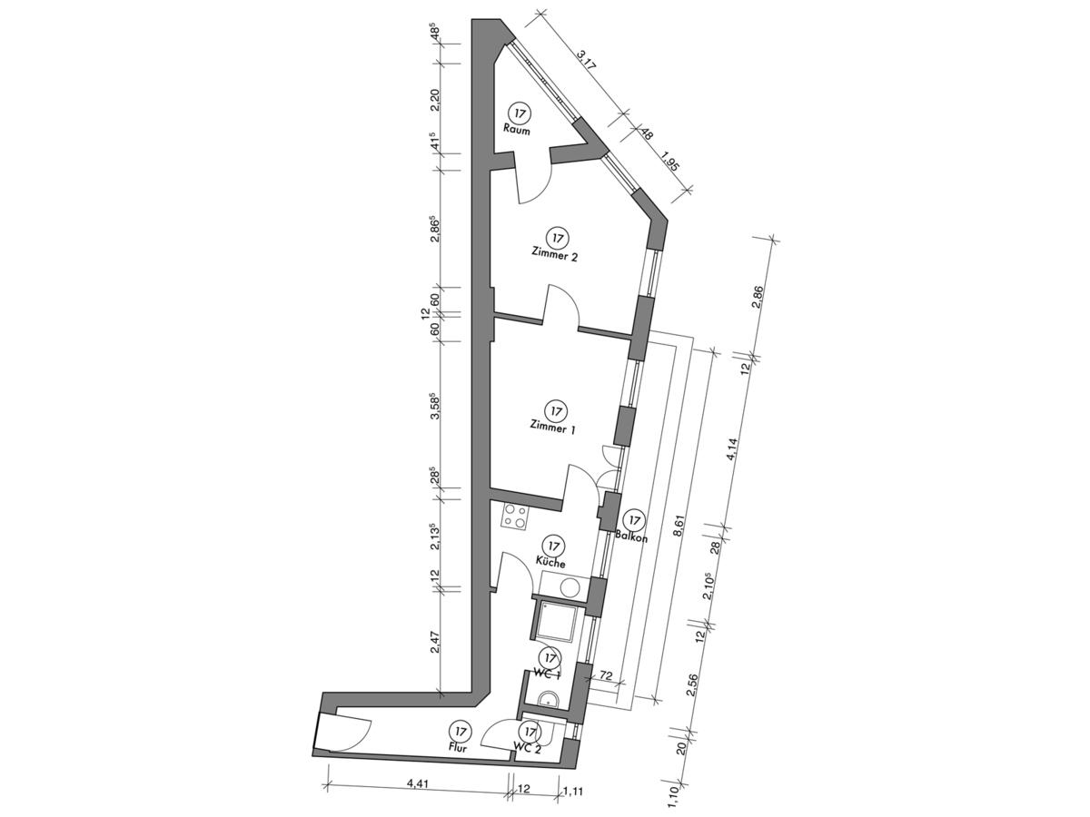 Floor plan unit 17 | Erasmusstraße