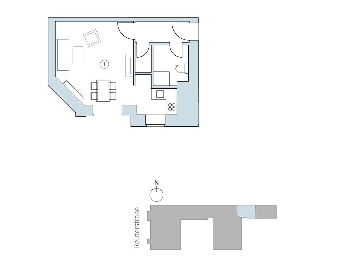 Floor plan unit 40 | Reuterstraße
